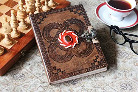 Amazon.com : Handmade Christmas Gift Ideas Leather Journal Diary ...
