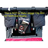 Double Stroller Stroller Organizer for Booyah Child and Large Pet Stroller. Will fit Clevr and Aosom Strollers and Bike…