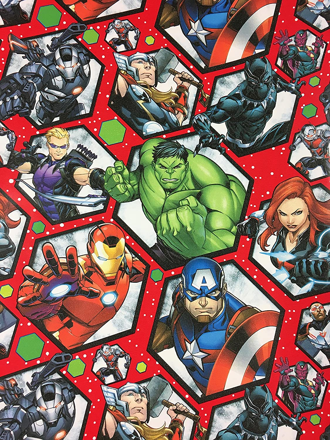 Marvel Christmas.Amazon Com Marvel Avengers Christmas Gift Wrapping Paper