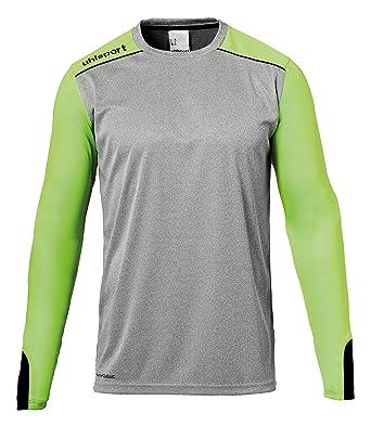 f9a864d1b15 Errea Tower Goalkeeper Long Arm Shirt Kids Jersey, Dark Grey Melange/Fluo  Gr,