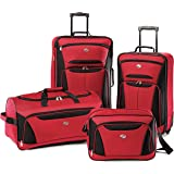 American Tourister luggage fieldbrook II 4 piece set, Red/Black, 4 piece set