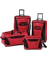 American Tourister luggage fieldbrook II 4 piece set, Red/Black, 4 piece set