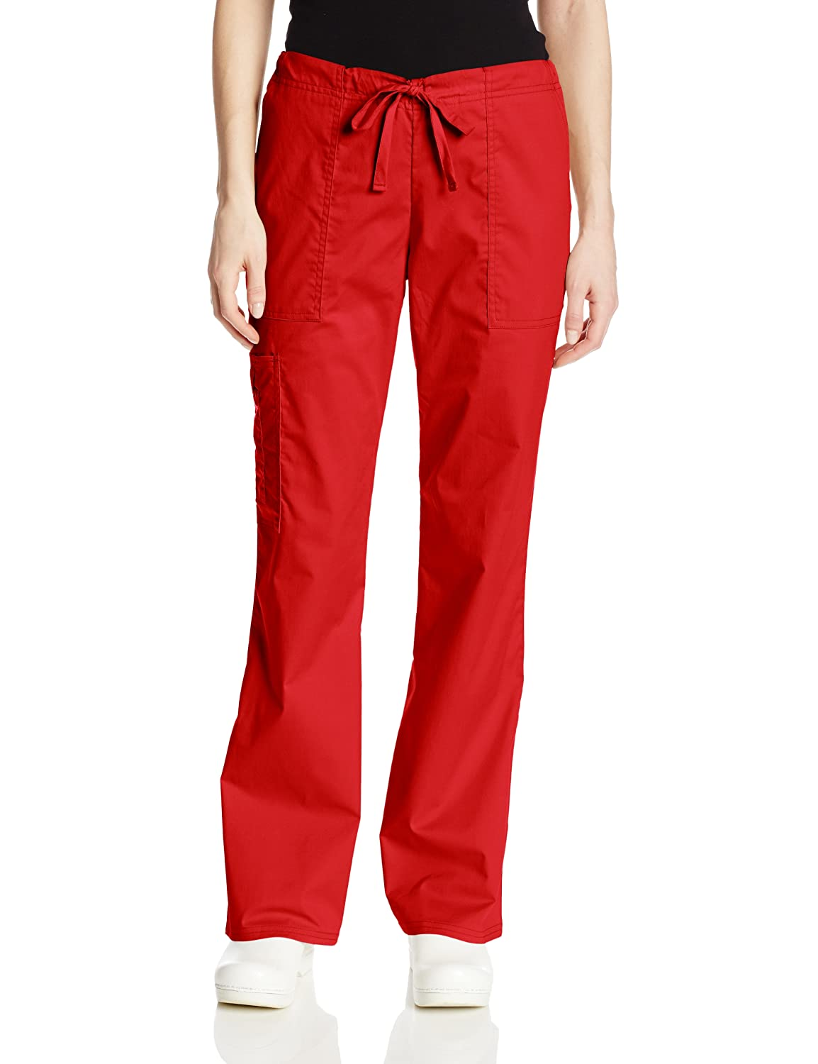 Cherokee Womens Workwear Mid Rise Drawstring Image 3