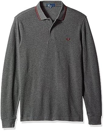 Rare Men Navy Jersey Polo V By Long Sleeve Marl Fashionable