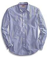 Goodthreads Men's Standard-Fit Long-Sleeve Banker Striped Shirt