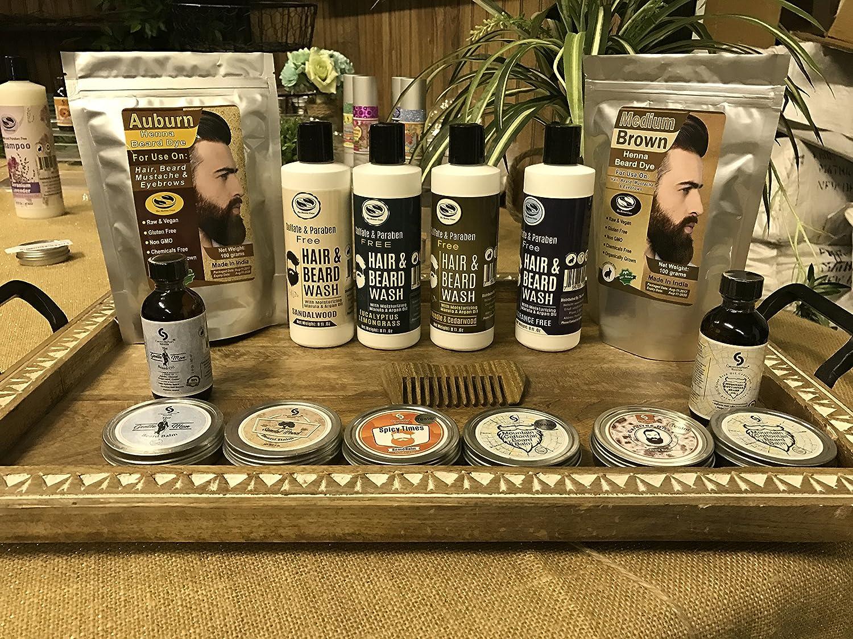1 Pack Of Medium Brown Henna Beard Dye For Men 100 Natural