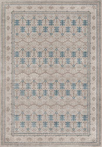 Momeni Rugs Kerman Collection, Antique Persian Inspired Traditional Area Rug, 9 3 x 12 6 , Taupe