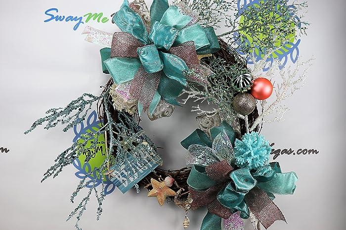 coastal christmas wreath seas and greetings decor beach themed decor holiday wreath