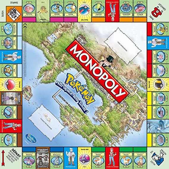 Winning Moves - Juego de Mesa Monopoly, Tema Pokemon, 2 a 4 ...