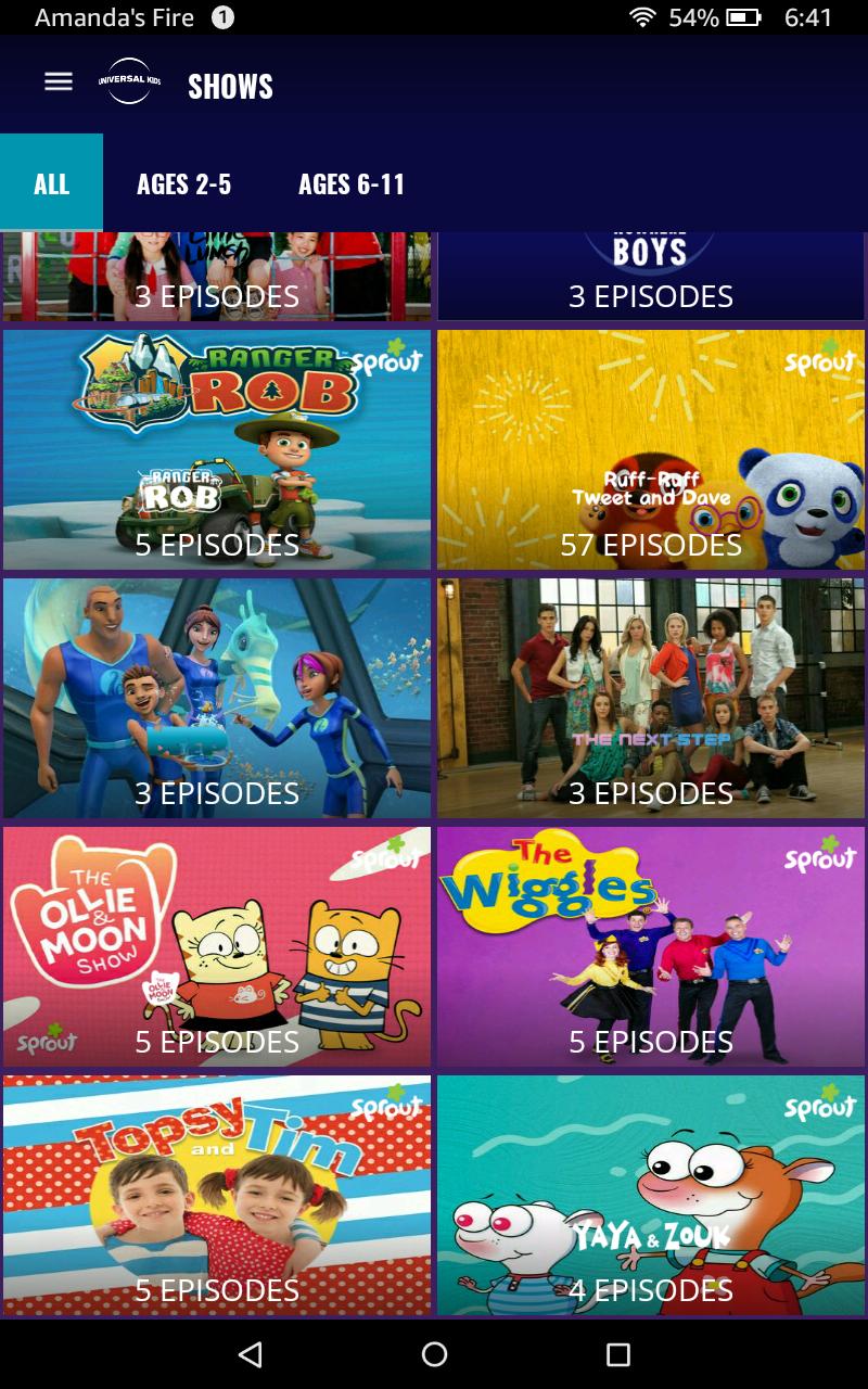 Universal Kids: Amazon.com.br: Amazon Appstore