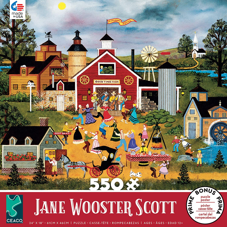 Ceaco 2367-22 Jane Wooster Scott- Dancing Up A Storm Puzzle - 550Piece