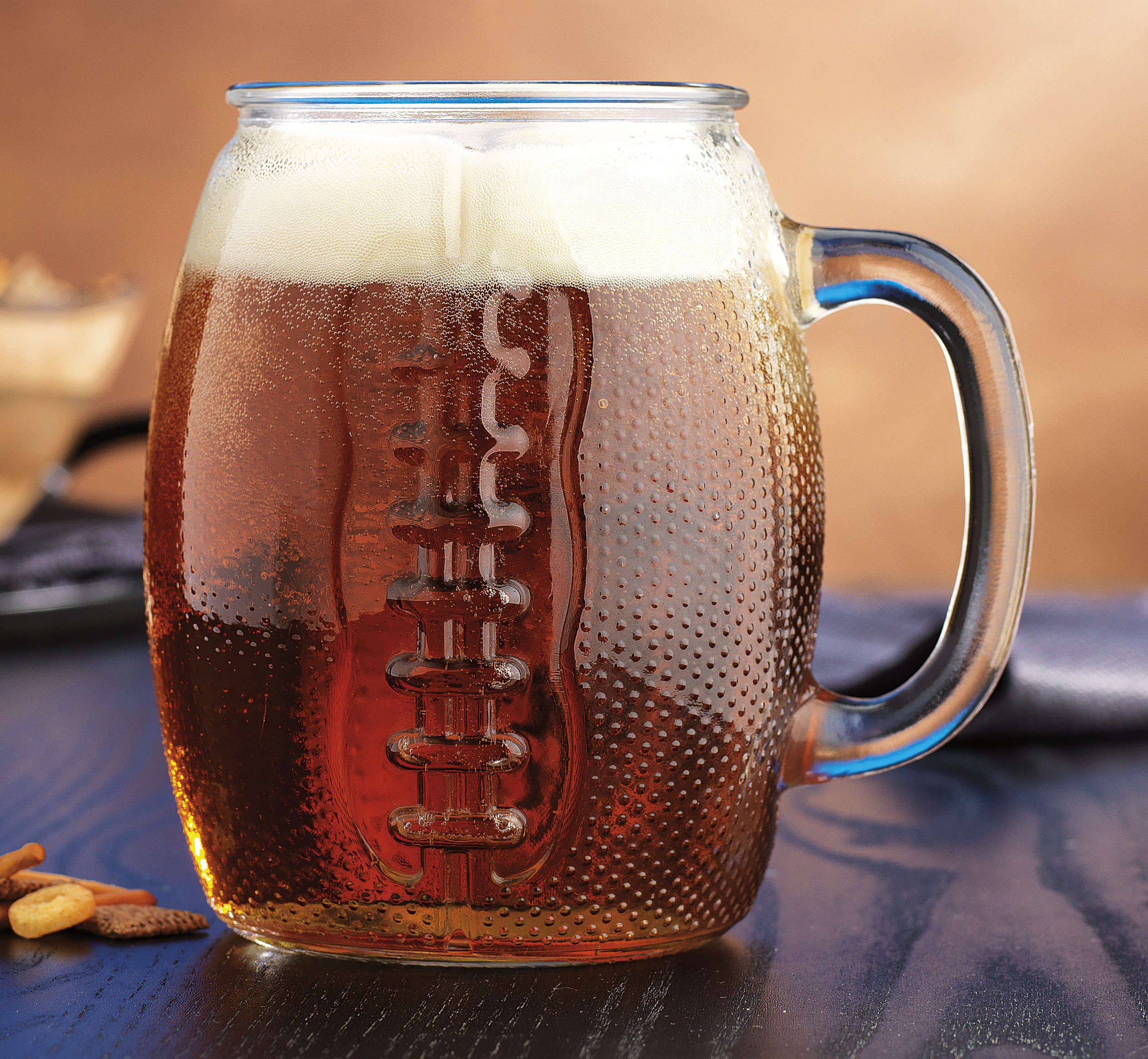 Oktoberfest 37 Oz Football Glass Fun Jumbo Beer Mug (1)