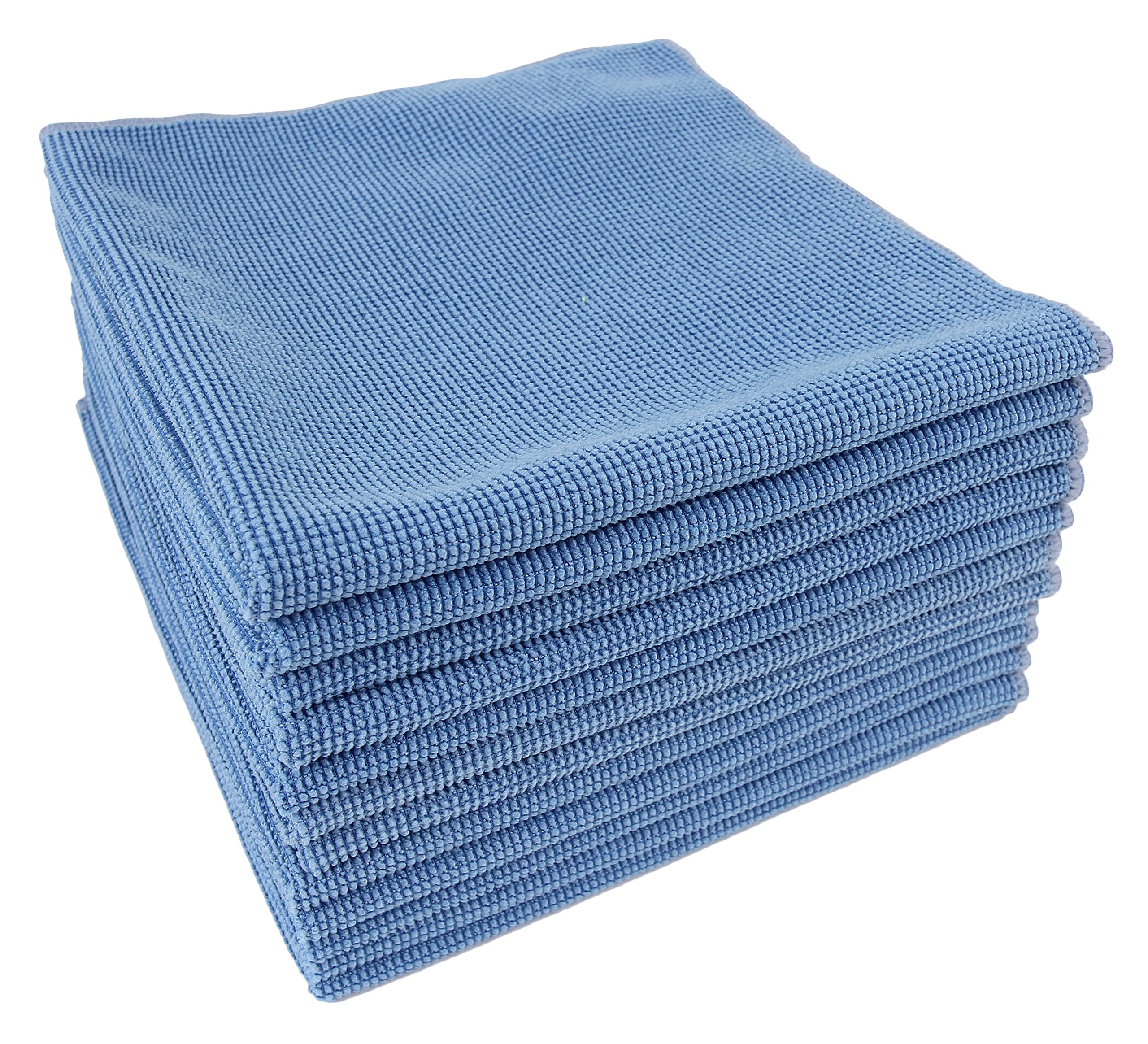 DRI Glass Cleaning Cloths, Set of 12(Blue)