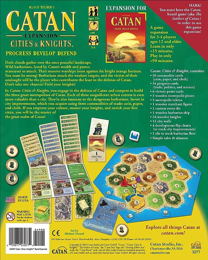 Mayfair Games Catan Expansion Cities and Knights Board Game: Amazon.es: Juguetes y juegos