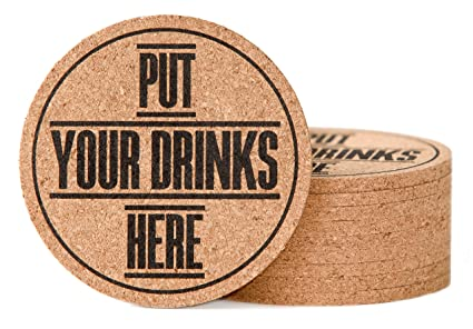 amazon com drink coasters set natural cork coasters for women