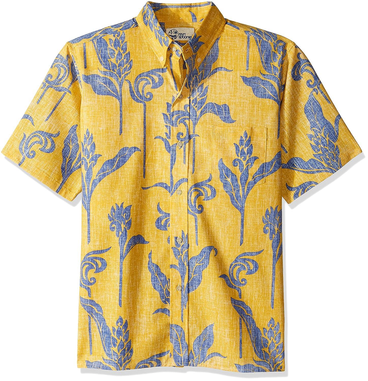 Reyn Spooner ボタンフロントシャツ メンズ ハワイ州花