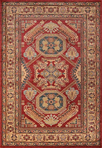 Momeni Rugs Ghazni Collection, Traditional Area Rug, 2 x 3 , Red
