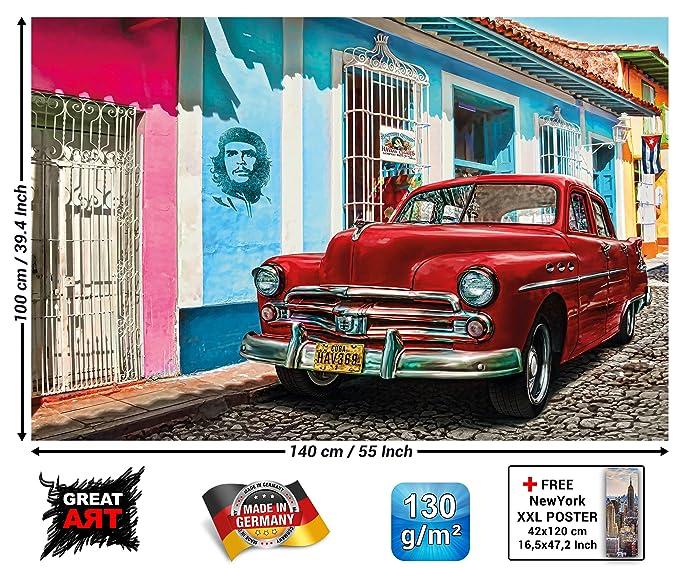 Automobilia Oldtimer Auto Car Vorsichtig Foto Aufgeklebt Kunst