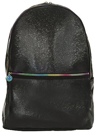 a17d0d732e9a Amazon.com  iscream Girls  Black Metallic Faux Leather 18