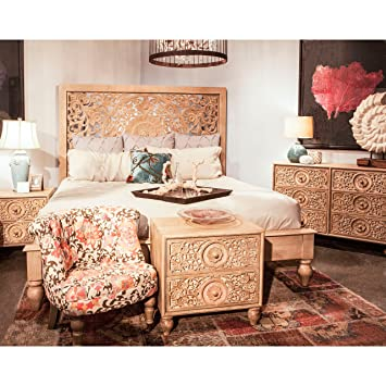 Amazon.com: Home Trends and Design Haveli Natural Solid Mango Wood ...