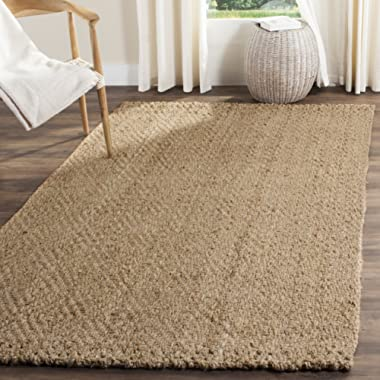 Safavieh Natural Fiber Collection NF181A Hand Woven Natural Jute Area Rug (4' x 6')