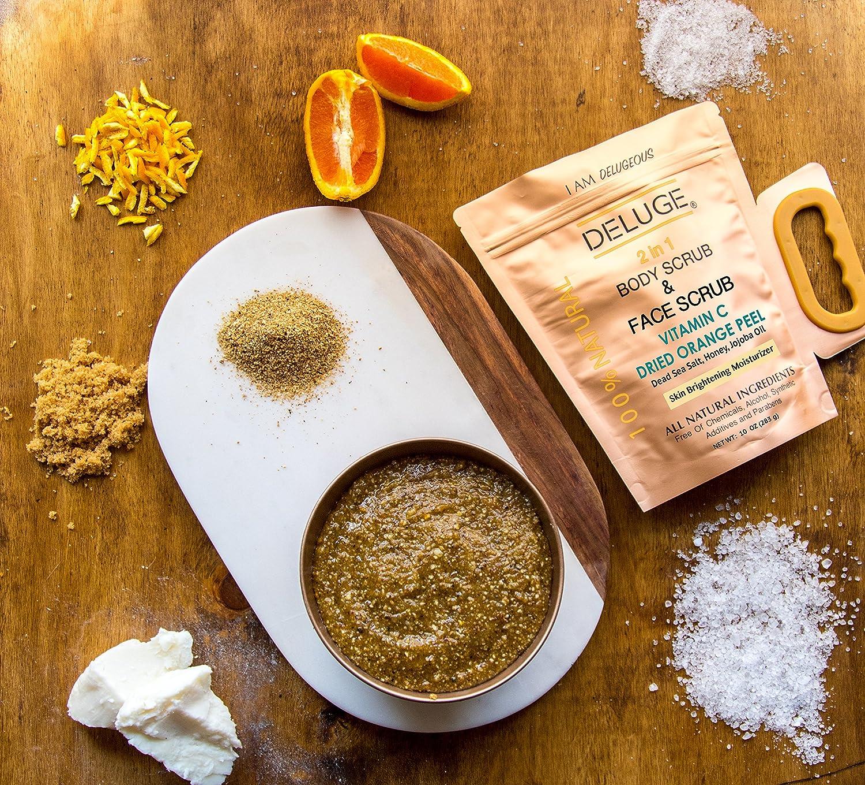 vitamin c scrub. dried orange peel. dead sea salt, honey and jojoba oil. 10 oz +++ body butter 6 0z Dermalogica Skin Hydrating Booster 1 oz