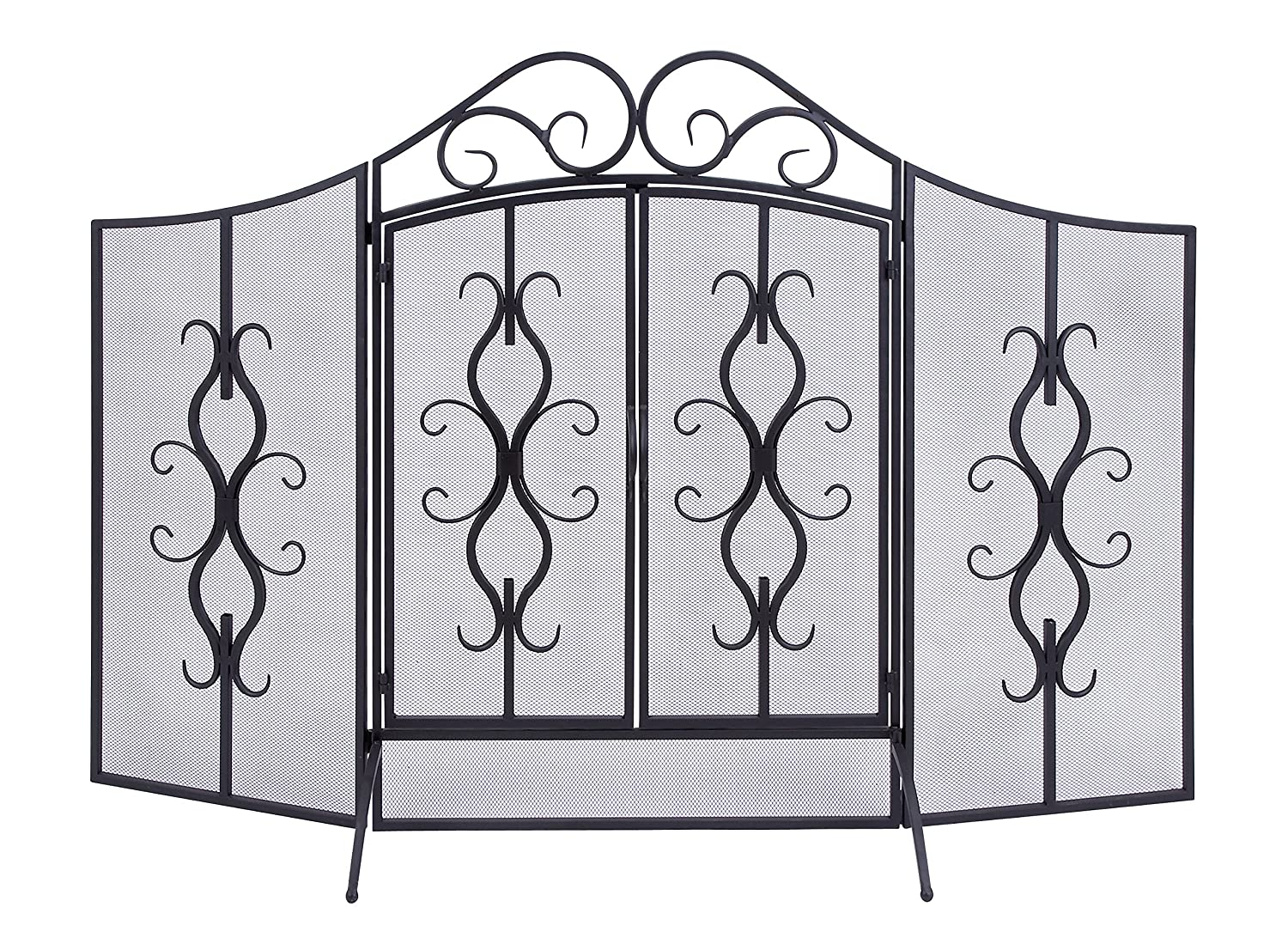 Deco 79 Metal Fire Screen, 60 by 40-Inch Deco Seventy-Nine 63348
