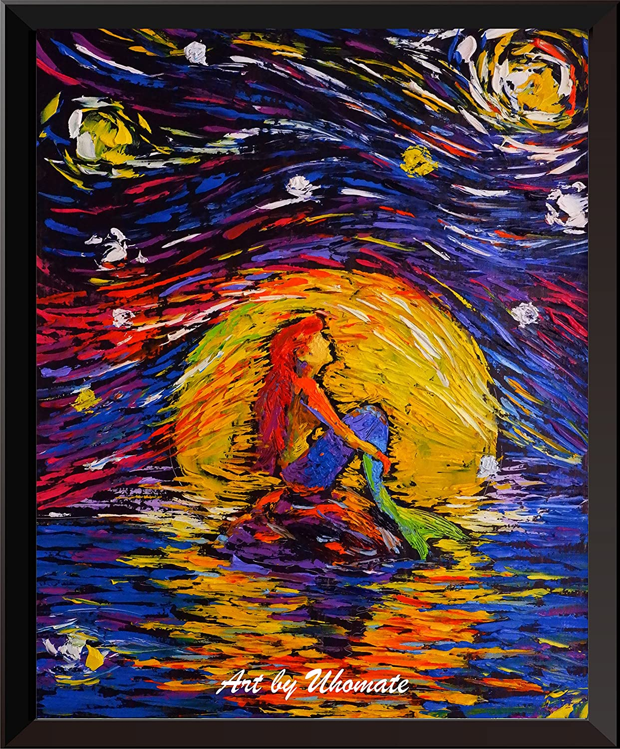 Amazon.com: Uhomate Vincent Van Gogh Starry Night Posters Ariel ...