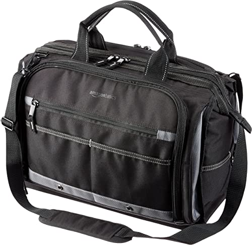 AmazonBasics Durable, Wear-Resistant Base, Tool Bag with Strap, Electrician s, 50 Pocket