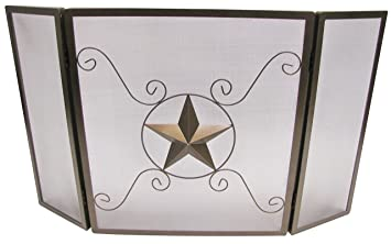 Amazon.com : Leigh Country TX 93833 W Fireplace Screen with Star ...