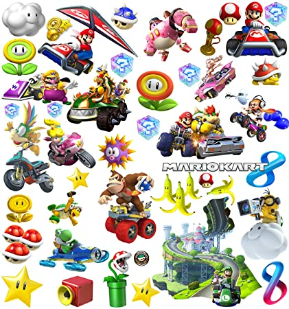 Amazing Mario Kart Stickers | Wall Art Decorations for Kids