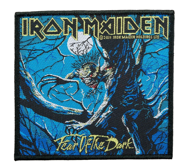 Unbekannt Iron Maiden toppa–fear of the Dark–Iron Maiden Patch–gewebt licenza gratuita.