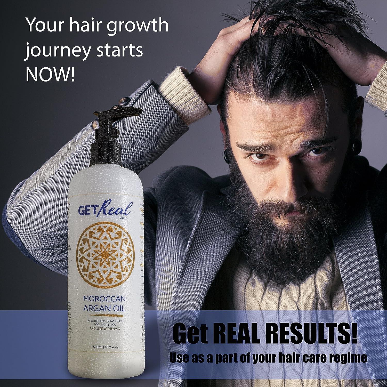 Champú con aceite de argán nutritivo para pérdida de cabello, crecimiento y fortalecimiento del cabello (500 ml) - Obtenga resultados reales con nuestro ...