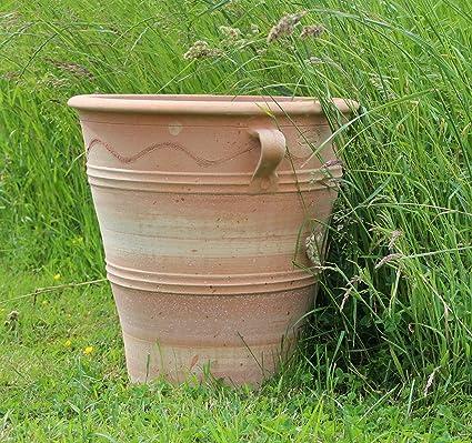 Kreta Keramik Handgefertiger Terracotta Topf Pflanzgefäß Aus Kreta