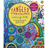 Tangled Treasures Coloring Book: 52 Intricate Tangle Drawings to Color with Pens, Markers, or Pencils - Plus: Coloring scheme