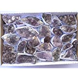 JIC Gem Natural Light Color 1 flat of 25-35Pcs Brazilian Amethyst Cluster Druzy, Collection, Wire Wrap, Jewelry Making, Gift