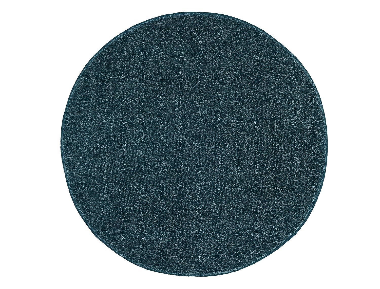 Kleine Wolke Textilgesellschaft Relax Tappeto di Bagno, Sintetico, Blu atlantico, 60x 60x 3cm 5405754307