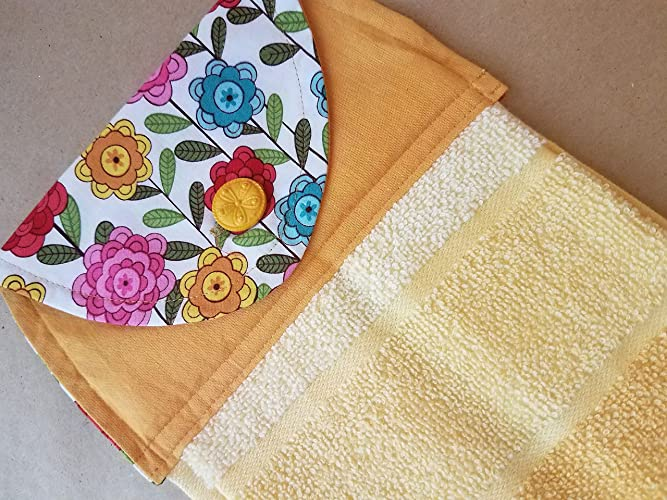 Amazon Com Spring Floral Hanging Kitchen Towel Summer Button Top