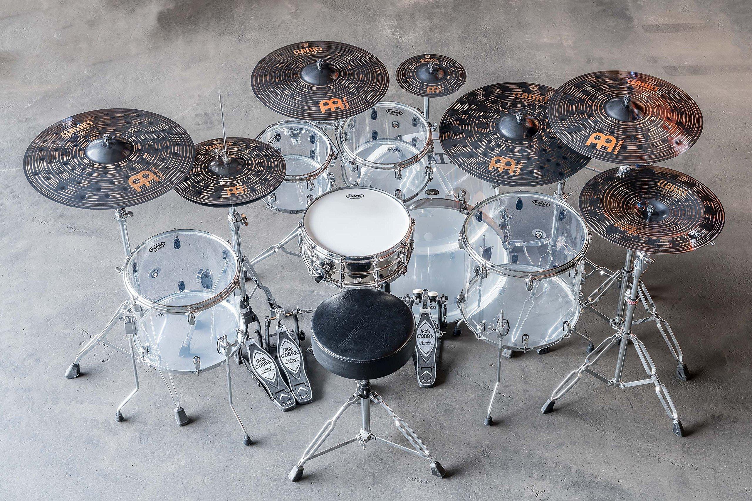 Meinl 14'' Hihat (Hi Hat) Cymbal Pair - Classics Custom Dark - Made in Germany, 2-YEAR WARRANTY (CC14DAH) by Meinl Cymbals (Image #6)