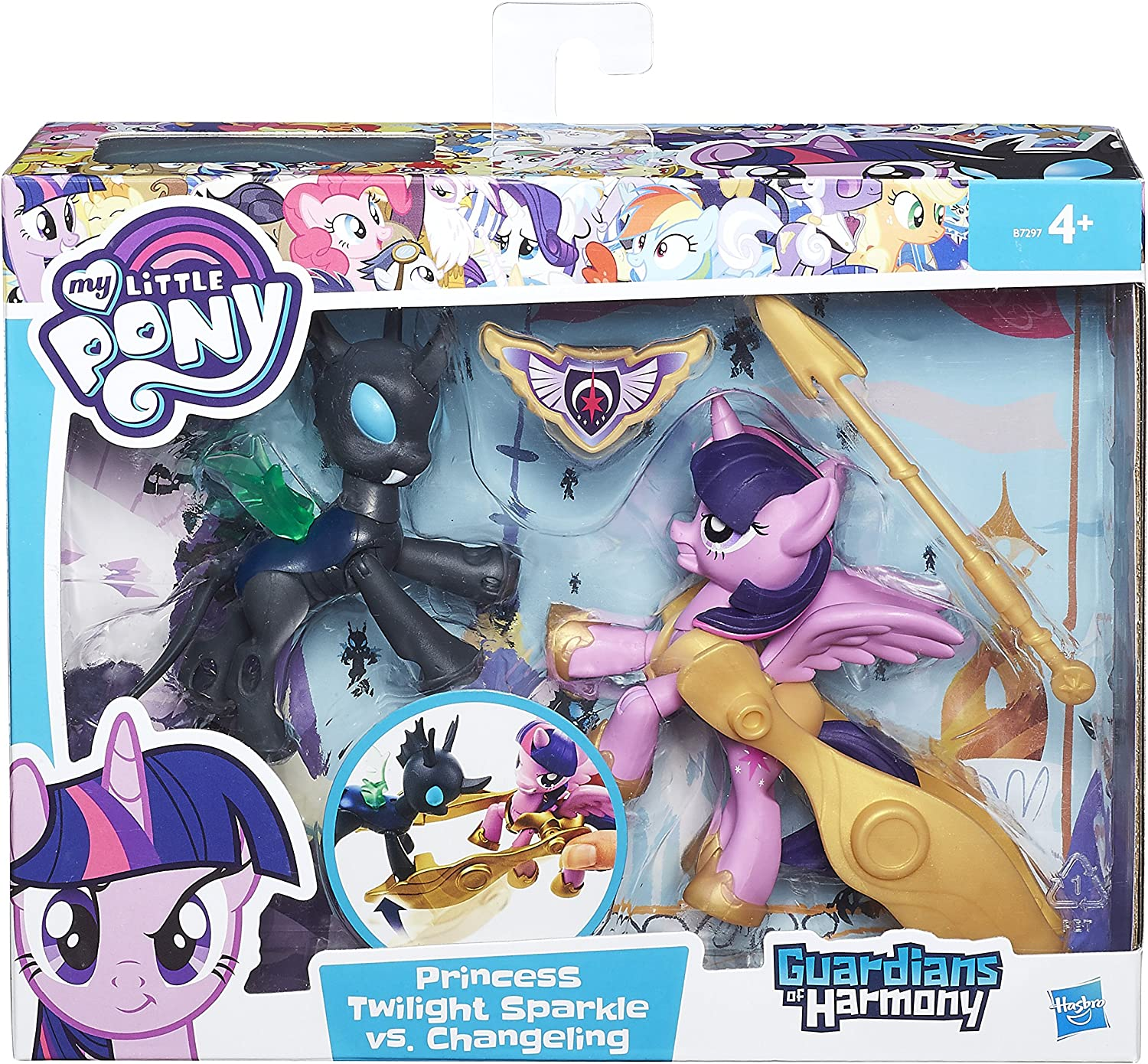 Changeling PERSONAGGI NUOVO HASBRO b6009 MY LITTLE PONY PRINCESS TWILIGHT SPARKLE vs
