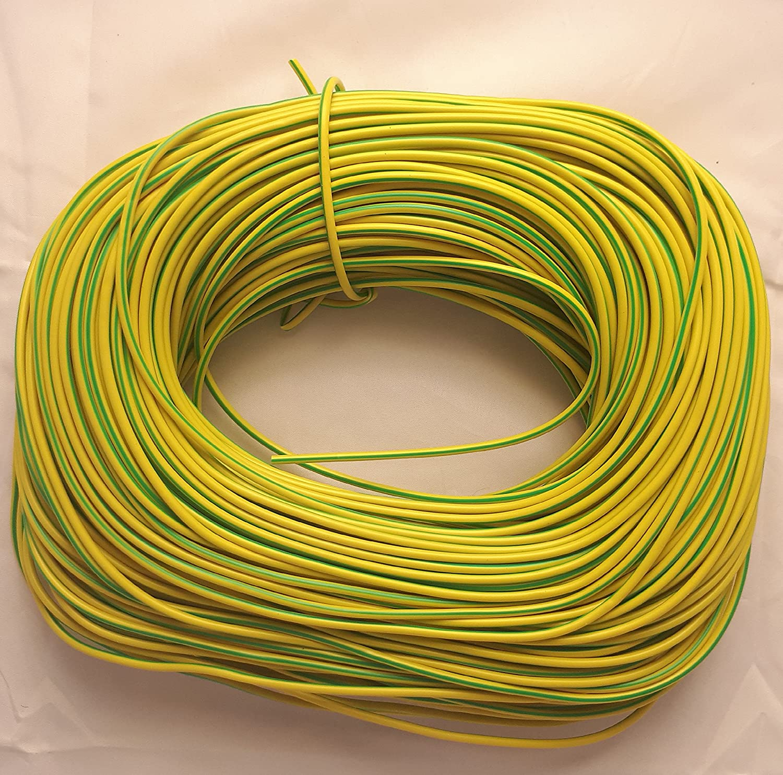 Electrical PVC Yellow/Green Earth Sleeving - 4mm - 5 Metre Custom Cut Length Ali' s DIY