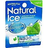 Mentholatum Natural Ice Lip Balm Original SPF 15 1 Each (Pack of 12)