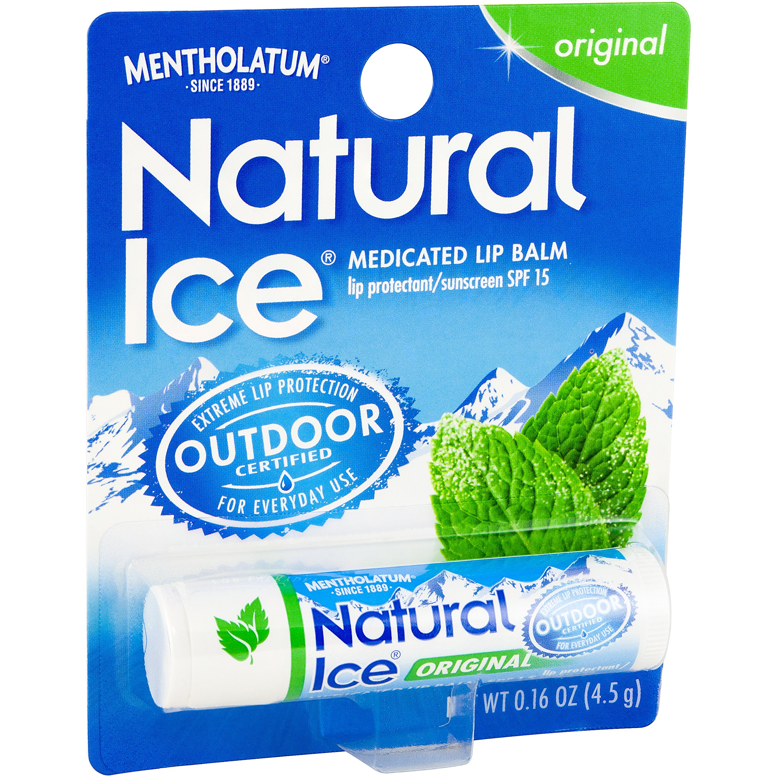 Mentholatum Natural Ice Lip Balm Original SPF 15 1 Each ( Pack of 12) by Natural Ice