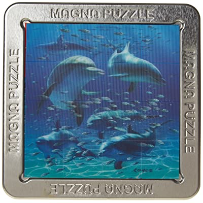 Magna Puzzle - 3-D Royce - Small - Dolphins - Puzzle by Cheatwell Games: Toys & Games