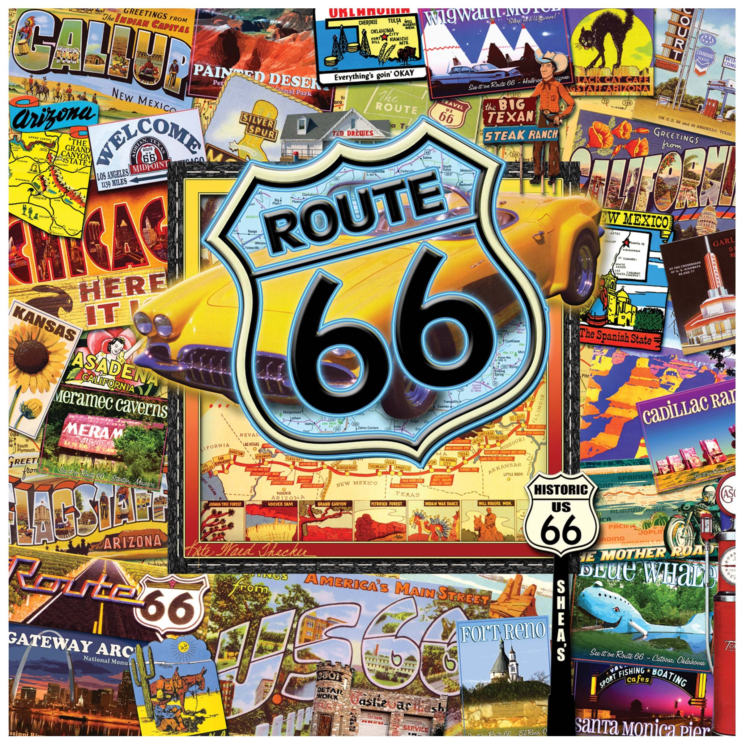 Thirstystone Occasions Trivet, Route 66-II, Multicolor