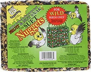 Bird Products/Food Fruit & Nut Seed Snak With Suet Nuggets, Small, 2.25 Lbs.