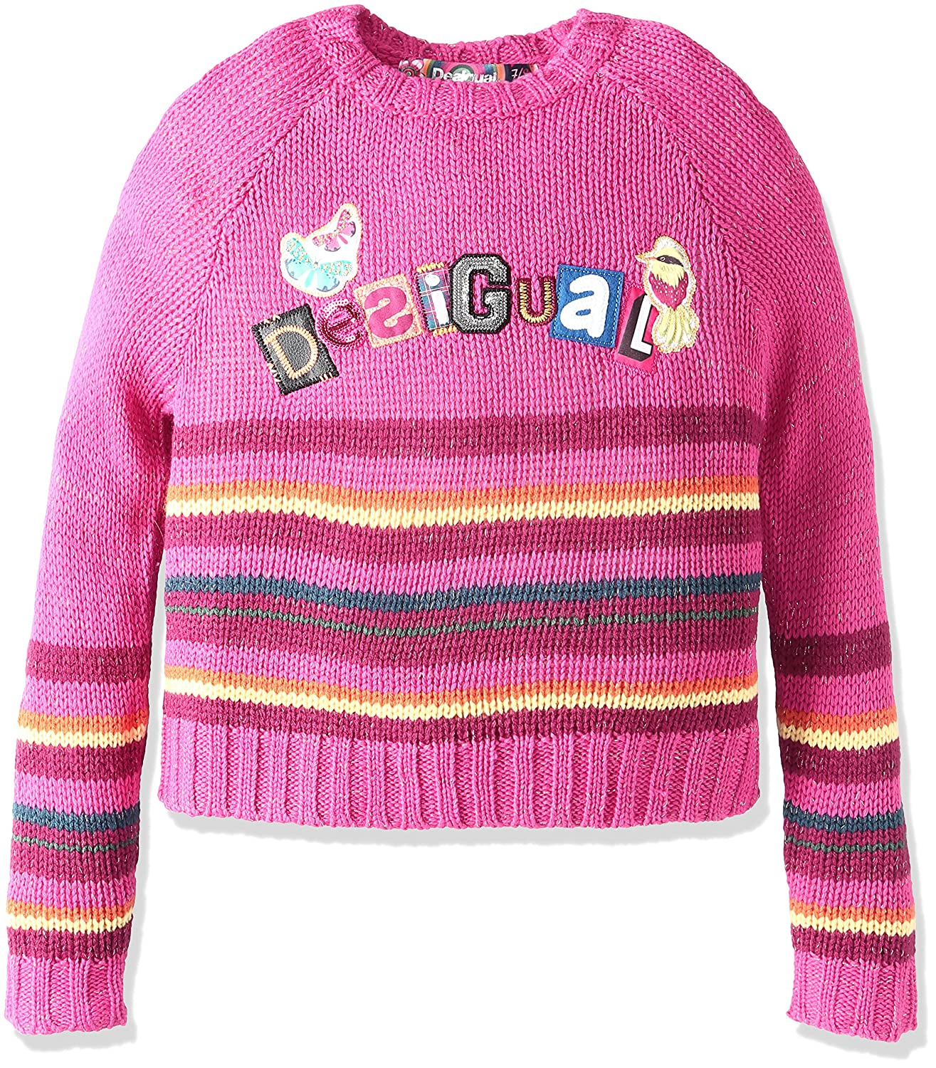 Rose (Fuchsia Rose) FR  140 cm  Desigual Gustave, Sweat-Shirt Fille
