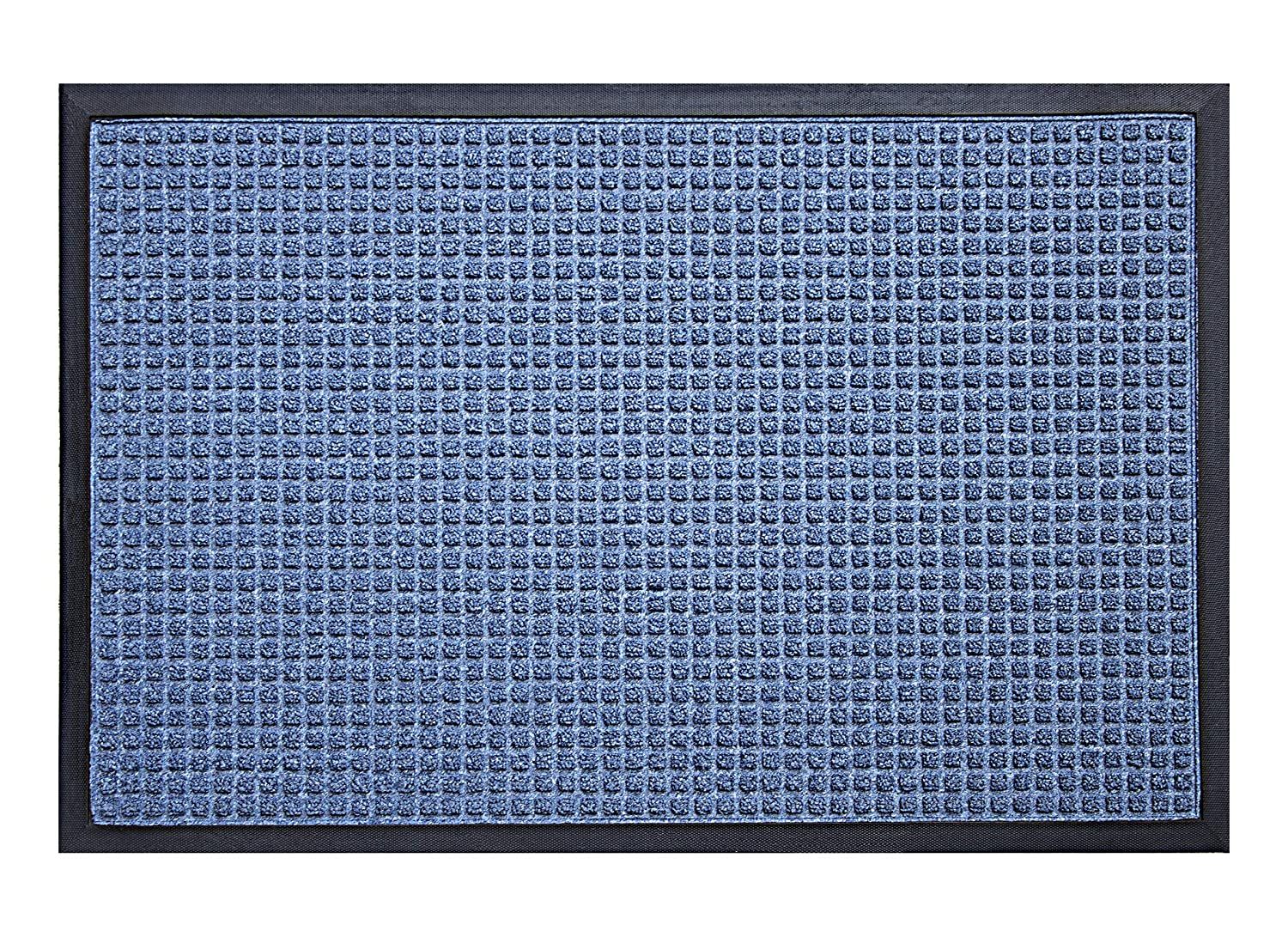 Durable Stop-N-Dry Indoor Rubber Backed Carpet Entrance Mat Gray 3 x 4