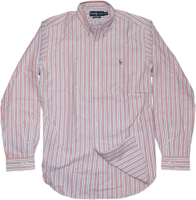 Vintage Men/'s Shirt Preppy Plaid Oxford Button Down Cotton Dress Casual Size XL