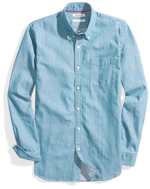 Goodthreads Men's Slim-Fit Long-Sleeve Denim Shirt MGT25064SP18